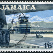 Postage stamps printed in Jamaica, shows the international airport Polisadoes — Stockfoto