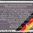 A stamp printed in Germany, dedicated to 40th anniversary of the Charter of German Expellees — Stock Photo