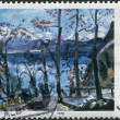 Постер, плакат: A stamp printed in Germany shows a picture of the Easter at Walchensee by Lovis Corinth