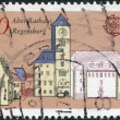 A stamp printed in Germany, shows the old Town Hall, Regensburg - Stock Photo