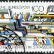 Stock Photo: Stamp printed in Germany, is dedicated to traffic safety