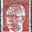 Stock Photo: Stamp printed in Germany, shows president of Germany Gustav Walter Heinemann
