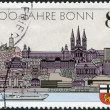 A stamp printed in Germany, is dedicated to the 2000th anniversary of Bonn and the 40th anniversary of the capital West Germany — Stock Photo