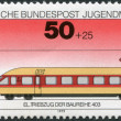 A stamp printed in Germany, shows the Electric rail motor train Class 403 — Stock Photo
