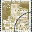 A stamp printed in Germany, is shown Trifels Fortress, Palatinate — Stock Photo