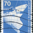 Stock Photo: Stamp printed in Germany, is shown Shipbuilding