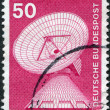 Royalty-Free Stock Photo: A stamp printed in Germany, shows a Radar station, Raisting