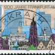 Stock Photo: A stamp printed in Germany, is devoted to 1200 anniversary of Frankfurt Am Main