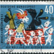 Royalty-Free Stock Photo: A stamp printed in the Germany, shows a scene from a fairy tale of the Brothers Grimm \