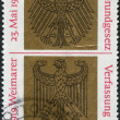 Stamp printed in Germany, dedicated to 20th anniversary of GermBasic Law — Stock Photo #12757664