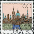 A stamp printed in Germany, is dedicated to the 750th anniversary of Hanover — Stock Photo