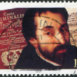 A stamp printed in Germany, is dedicated to the 100th anniversary of the birth Friedrich Spee von Langenfeld, - Stock Photo