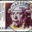 Постер, плакат: A stamp printed in Germany is dedicated to the 250th anniversary of the birth Georg Christoph Lichtenberg