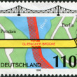 A stamp printed in Germany, shows the Glienicke Bridge (Bridge of Spies) — Stock Photo