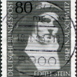 A stamp printed in Germany, shows Edith Stein, philospher and Carmelite Nun — Stock Photo
