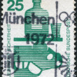 A stamp printed in Germany, is dedicated to Accident prevention is shown Alcohol and automobile — Stok fotoğraf