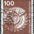 Stock Photo: Stamp printed in Germany, is shown Bituminous coal excavator
