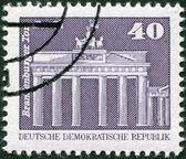 DDR - CIRCA 1973: A stamp printed in DDR, shown Brandenburg Gate, Berlin, circa 1973 — Stock Photo