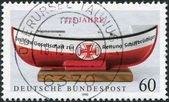GERMANY - CIRCA 1990: A stamp printed in the Germany, dedicated to 125 anniversary of the German Life Boat Institution, circa 1990 — Foto de Stock