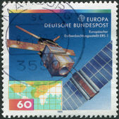 GERMANY - CIRCA 1991: A stamp printed in the Germany, shows the ERS-1 (European Remote-Sensing Satellite), circa 1991 — Stock Photo