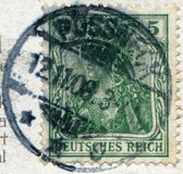GERMANY - CIRCA 1905: A stamp printed in the German Empire, is shown allegory Germania, circa 1905 — Stock Photo