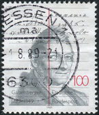 GERMANY - CIRCA 1989: A stamp printed in the Germany, dedicated to the 200th anniversary of Franz Xaver Gabelsberger, circa 1989 — Stock Photo