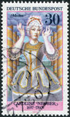 GERMANY - CIRCA 1976: A stamp printed in the Germany, depicts German actress Caroline Neuber as Medea, circa 1976 — ストック写真