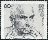 GERMANY - CIRCA 1988: A stamp printed in the Germany, dedicated to the 100th anniversary of the birth, Jacob Kaiser, circa 1988 — Stock Photo