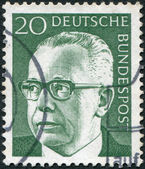 GERMANY - CIRCA 1970: A stamp printed in the Germany, shows the president of Germany Gustav Walter Heinemann, circa 1970 — Stockfoto