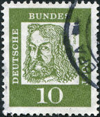 GERMANY - CIRCA 1961: A stamp printed in the Germany, is shown Albrecht Durer, circa 1961 — Stock Photo