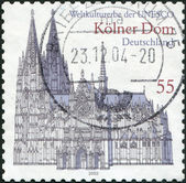 GERMANY - CIRCA 2003: A stamp printed in the Germany, shows the Cologne Cathedral, UNESCO World Heritage Site, circa 2003 — Stock Photo