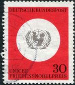 Przyznanie z 1965 roku nagrodę nobla dla unicef — Zdjęcie stockowe