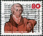 200th anniversary of the birth Carl Maria von Weber — Stock Photo