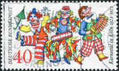 A stamp printed in the Germany, dedicated to the 150th anniversary of the Cologne Carnival — Stock Photo