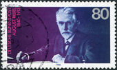 A stamp printed in the Germany, shows August Bebel — 图库照片