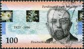 Um selo impresso na Alemanha, mostra o Barão ferdinand von mueller — Fotografia Stock