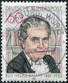 A stamp printed in Germany, shows Elly Heuss-Knapp — Стоковое фото