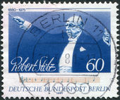 A stamp printed in Germany, is dedicated to the 100th anniversary of the birth Robert Elisabeth Stolz — Stock Photo