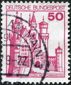 A stamp printed in Germany, shows the Neuschwanstein Castle — Stock Photo