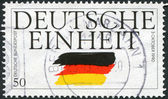 A stamp printed in Germany, is devoted to German Reunification — Stock Photo