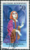 A stamp printed in Germany, is devoted to German Actresses, shows Hermine Korner (1878-1960) as Lady Macbeth — Stock Photo