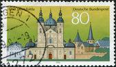 A stamp printed in Germany, is devoted to 1250 anniversary of the city of Fulda — Stock Photo