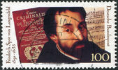 A stamp printed in Germany, is dedicated to the 100th anniversary of the birth Friedrich Spee von Langenfeld, — Stock Photo