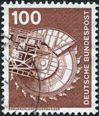 A stamp printed in Germany, is shown Bituminous coal excavator — Stock Photo