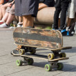 Stock Photo: Three old skateboards