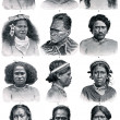 "The peoples of Polynesia and Micronesia. Publication of the book ""Meyers Konversations-Lexikon"", Volume 7, Leipzig, Germany, 1910 - Stock Photo"