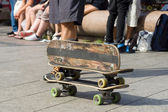 Three old skateboards — Stock Photo