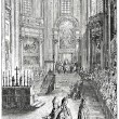 Old engravings. Shows the First Vatican Council - Stock Vector