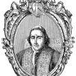 Old engravings. Shows Pope Pius VII — Image vectorielle