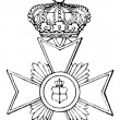 Cross of Honour (Principality of Reuss Younger Line, 1869). Publication of the book &amp;quot;Meyers Konversations-Lexik on&amp;quot;, Volume 7, Leipzig, Germany, 1910 - Stock Vector